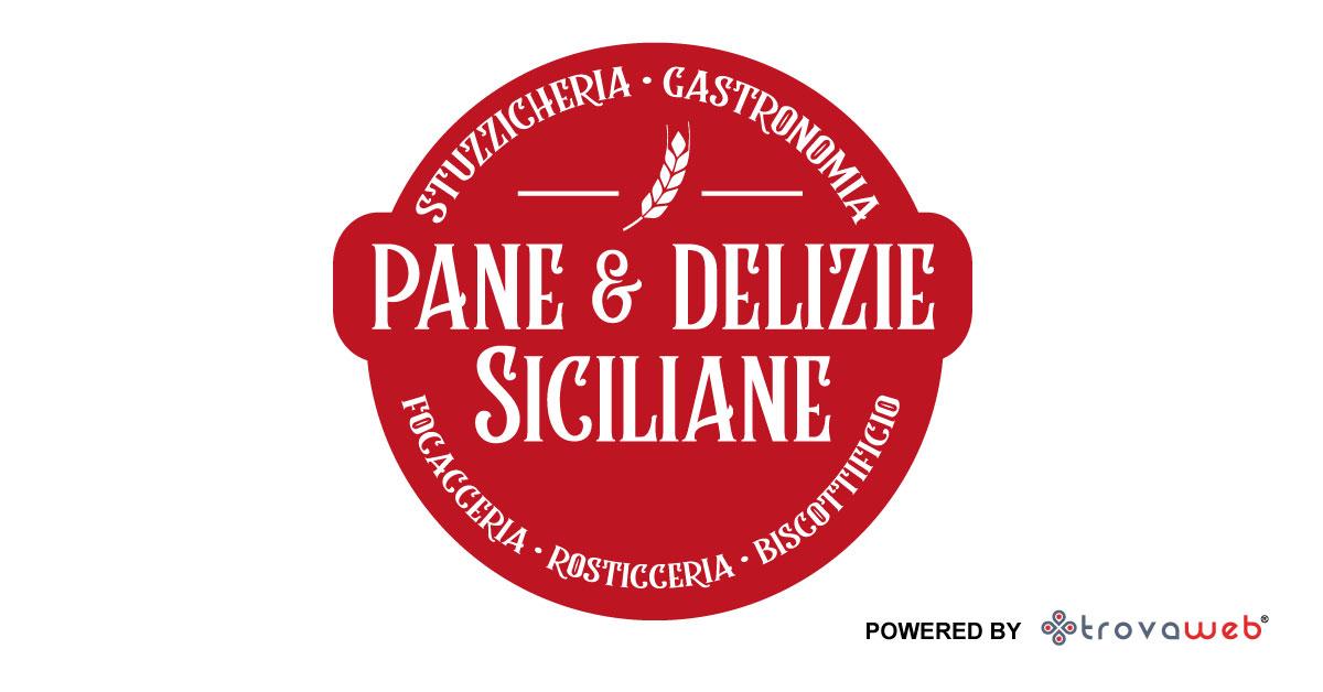 Sizilianisches Brot und Köstlichkeiten