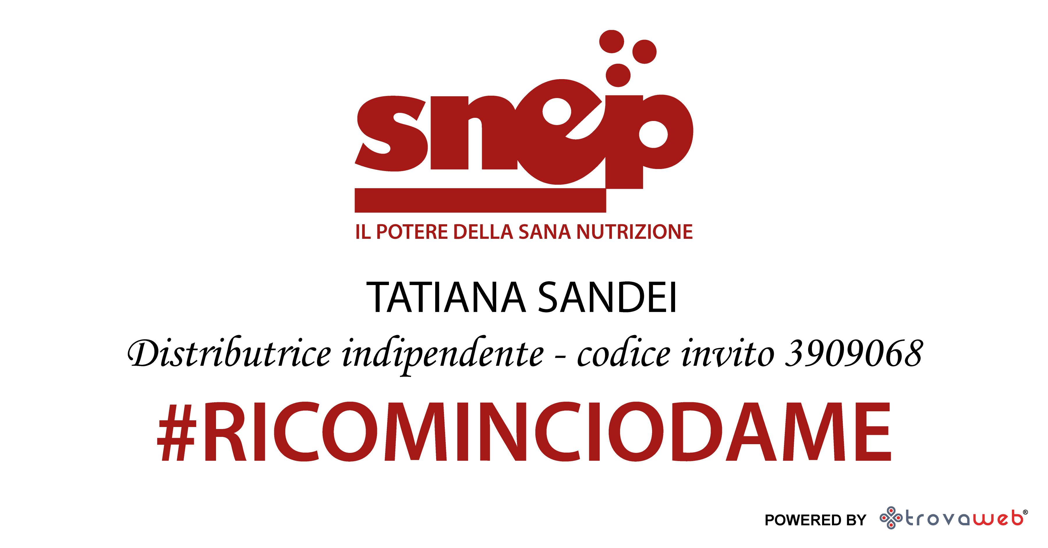 Distribuidor educador de alimentos Snep Tatiana Sandei