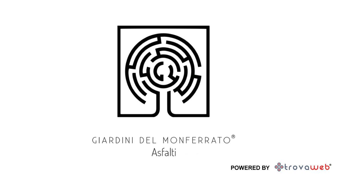 Réalisation d'asphalte BIO par Giardini del Monferrato